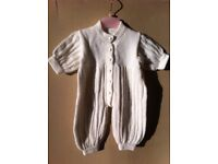 WHITE KNITTED ALL-IN-ONE SUITE 1-3 MONTHS