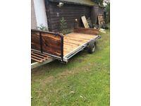 Flat bed trailer (carvan base)