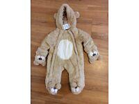 Brand new Furry teddy bear onesie 6-9 months