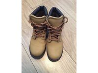 Tan High Top Hobos Boots - Size 3