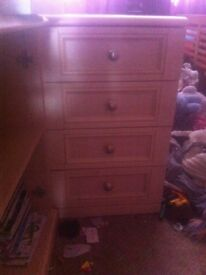 two 4 drawers bed side cabnets