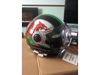 New Welsh Dragon Open Face Motor Bike Helmet XL