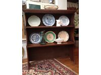 Antique oak shelves