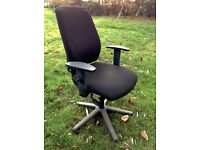 Upholstered swivel & 5 ways adjustable office chair - 2 available