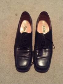 Gabor Lady's Black Leather Lace up shoes - size 6