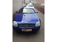 Merc slk 230 Kom 95300 Miles Blue,Auto new w/screen,interior,partial respray.2repl seats included