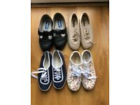 Ladies Cosyfeet shoes Size 4 Ladies Yours canvas shoes Size 4 hardly worn.