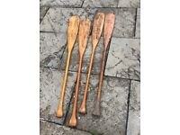 TWO PAIRS OF OARS