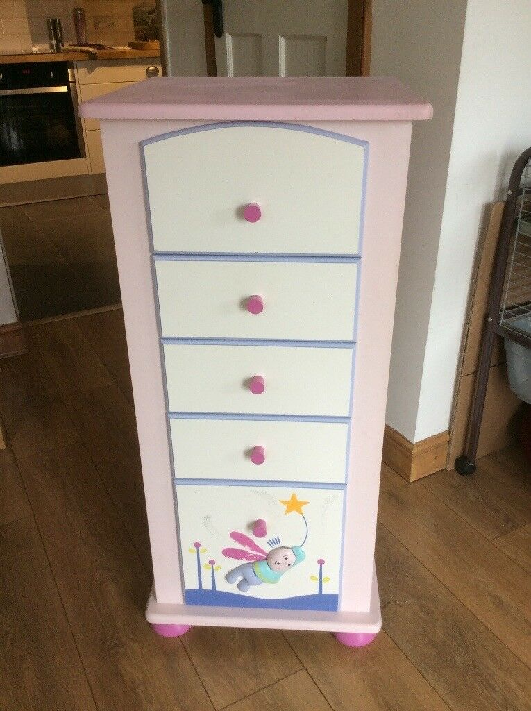 Child's/ Babies hand painted 5 draw chest