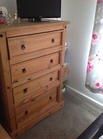 Heavy set of drawers , bottom drawer quite deep