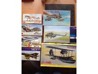 Job lot of model aircraft kits
