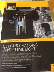 Colour Changing Windchime solar powered light