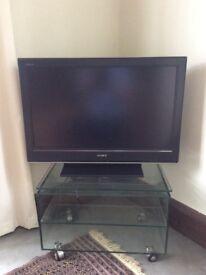 SONY BRAVIA TV WITH GLASS STAND