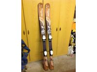 Fisher skis,Scott poles and padded head ski bag for sale
