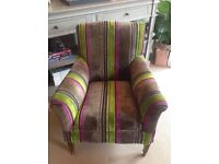 Bespoke Antique Armchair in Designers Guild Luxury Fabric