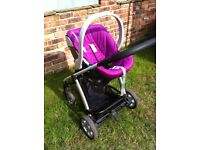 Mamas and Papas Sola Travel System inc pushchair, car seat, carry cot and adaptors COLLECTION ONLY
