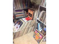 Vinyl records. Selection of approx 400 albums and singles