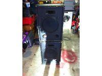 "12""Celestion loaded 100w Speakers. Pair of. £80"