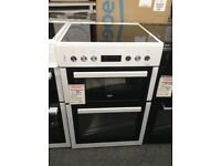 Beko 60cm double oven electric cooker. £350 RRP £499 new/graded 12 month Gtee