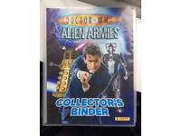 Dr Who alien armies trading cards