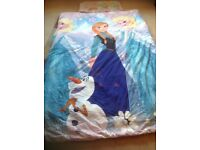 single duvet with frozen cover and pillowcase