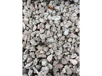 20 mm silver grey granite garden and driveway chips/gravel