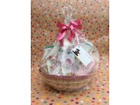 Pink Disney Baby Basket gift perfect for baby showers or as a baby gift