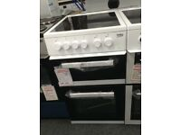 Beko 50cm electric cooker with ceramic hob. £220 new/graded 12 month Gtee