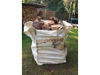Bulk bag of seasoned hardwood logs £60 or two for £110 or 3 for £150