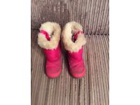 Girls Next snow boots size 8, pink in colour with fur lining