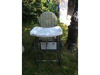 Wooden high-chair