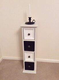 Black and white cupboard