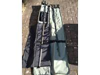 Assorted fishing rods