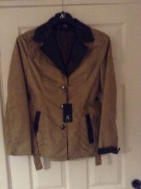 Faux leather ladies jacket