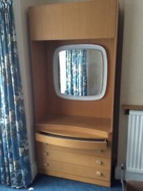 Wardrobe and chest of drawers retro