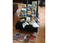 XBOX 360 games, controllers and chair