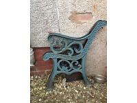 Vintage cast iron chair ends