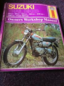 Haynes Suzuki Trial Bike manual 1971 onwards