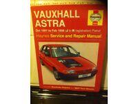 Haynes Workshop Manual For Vauxhall Astra 91-98