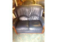Sofa blue leatheret