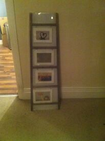 Ladder style picture frame