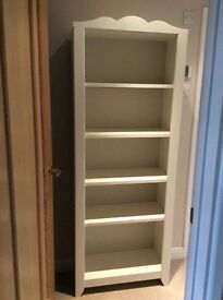 Ikea white wood bookcase excellent condition