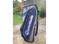 A used excellent con taylormade cart bag