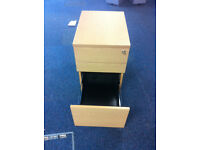 small office pedestal filing cabinet with key