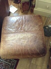 Tan leather foot stall