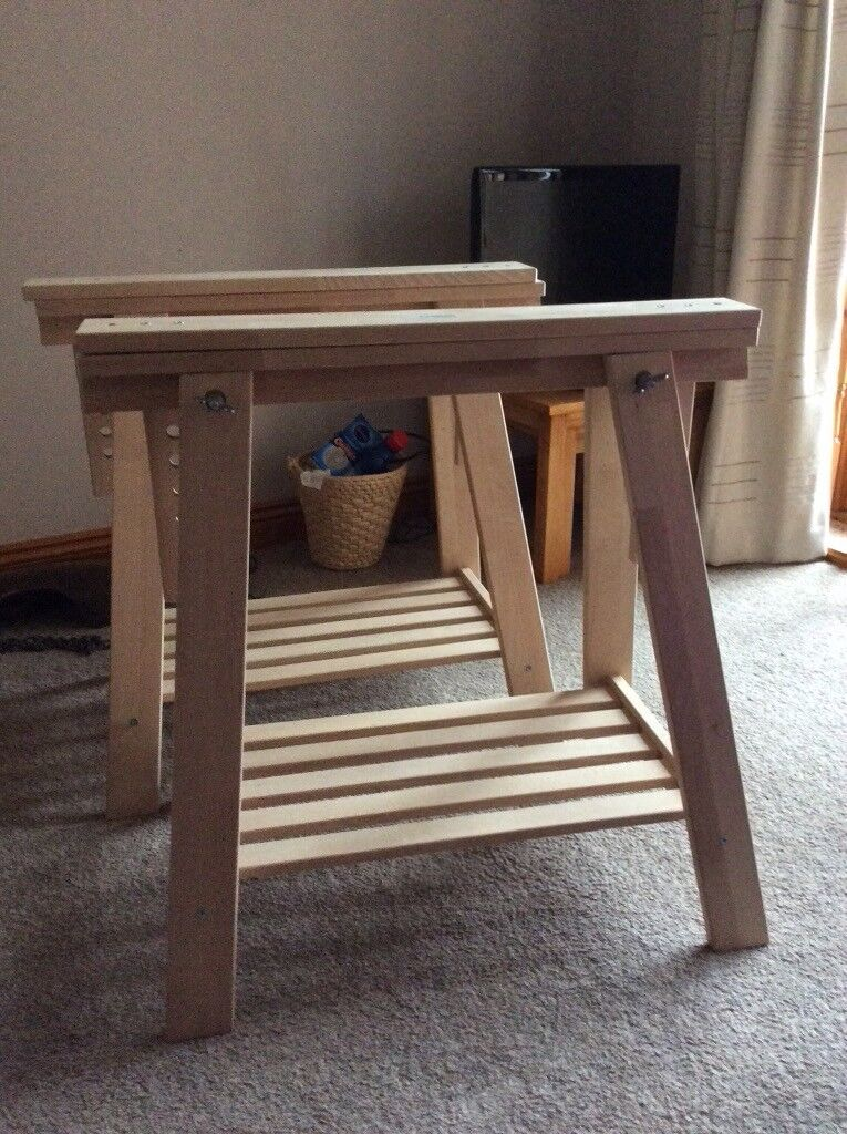 Ikea Finnvard Wooden Trestle Table Legsstand In Coleford Gloucestershire Gumtree