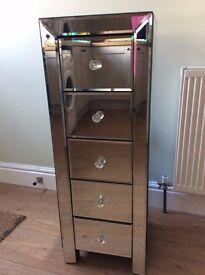 Mirrored tallboy cabinet