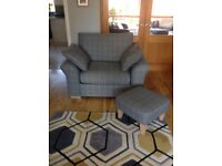Next cuddle storage chair and footstool