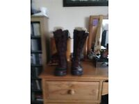 Merrall knee length boots for sale. Worn only twice