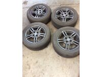 "Fiat 15"" Alloy Wheels,Punto set of four in Anthracite Grey."